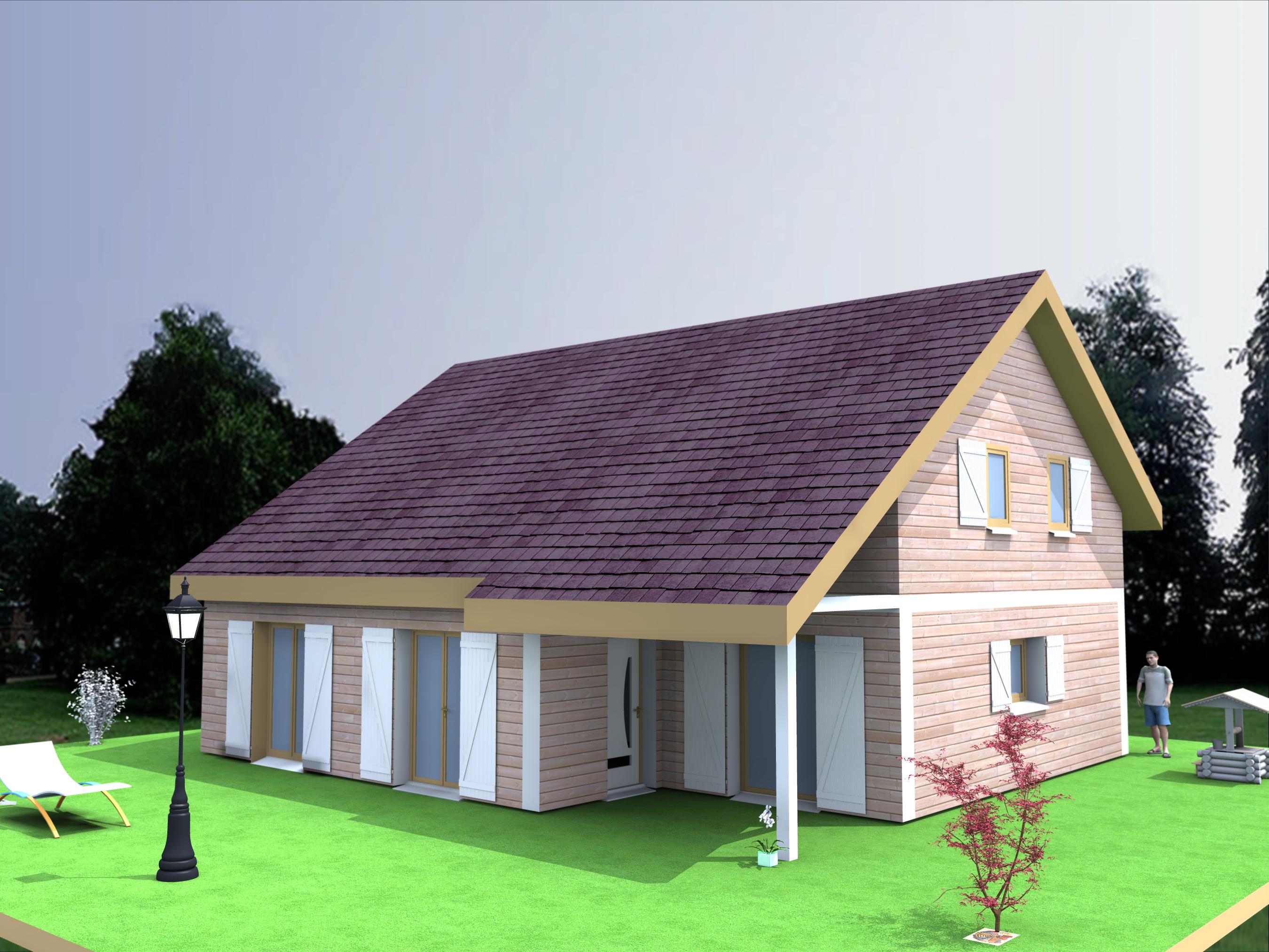Maison à étage modèle DYNA