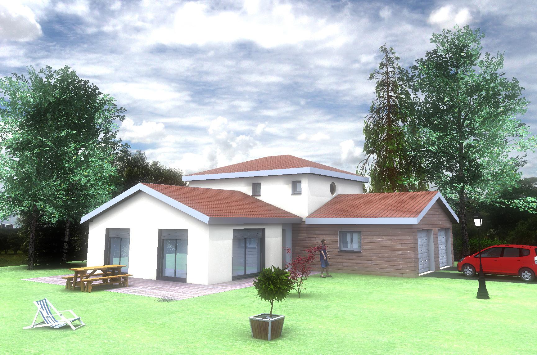 Maison avec garage double modèle MOZAC